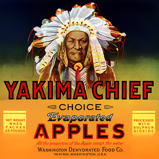 Yakima Chief Evaporated Apples, circa 1940