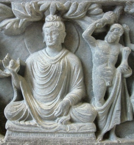 Heracles/ Vajrapani as the protector of the Buddha; a Greco-Buddhist relief from Gandhara