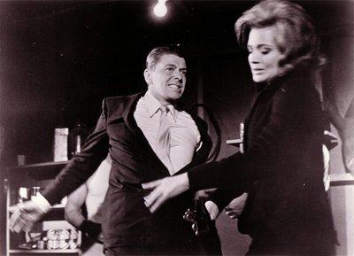 Ronald Reagan hitting a girl